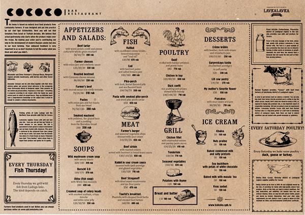 restaurant cafe bar menu Layout Food  drink