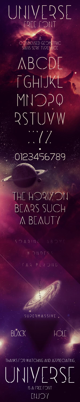 universe font Typeface