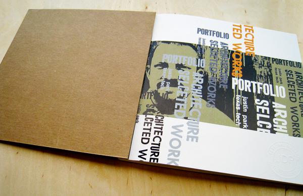 letterpress portfolio Architecture portfolio chipboard butcher paper