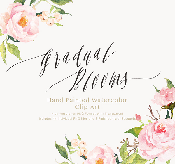 watercolor flower clip art