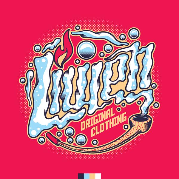 Logo Liwen intervenido. by Basta Juan