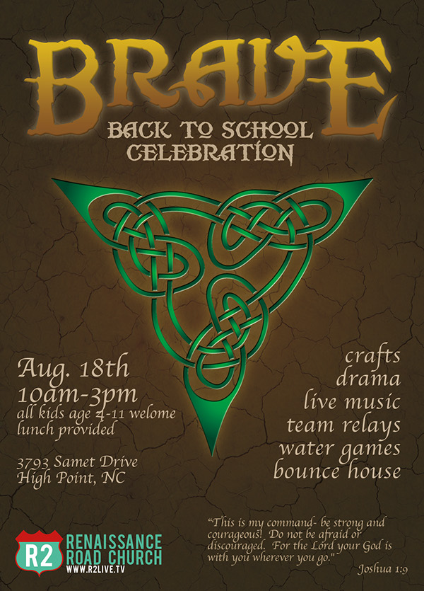 brave back to school party flier on behance
