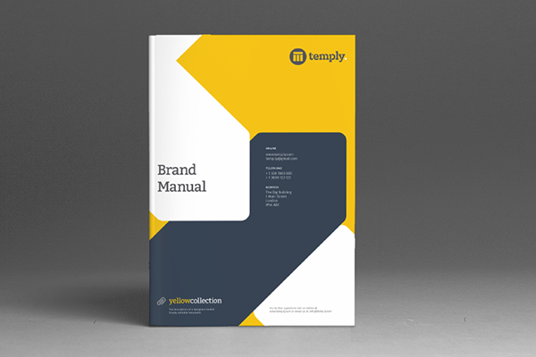 Brand Manual Template on Behance – Manual Template