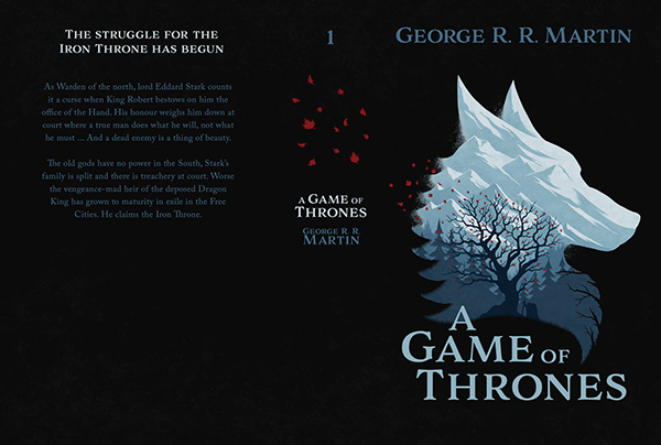 A Song of Ice and Fire - Book Cover Design on Wacom Gallery
