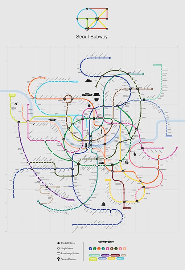 Seoul Station Subway Map.Seoul Subway System On Behance