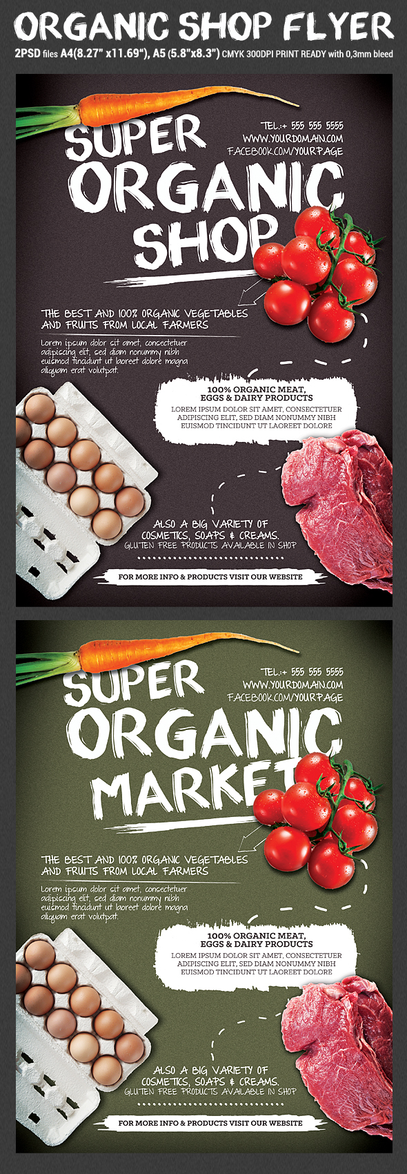 Organic Shop Promotion Flyer Template on Behance