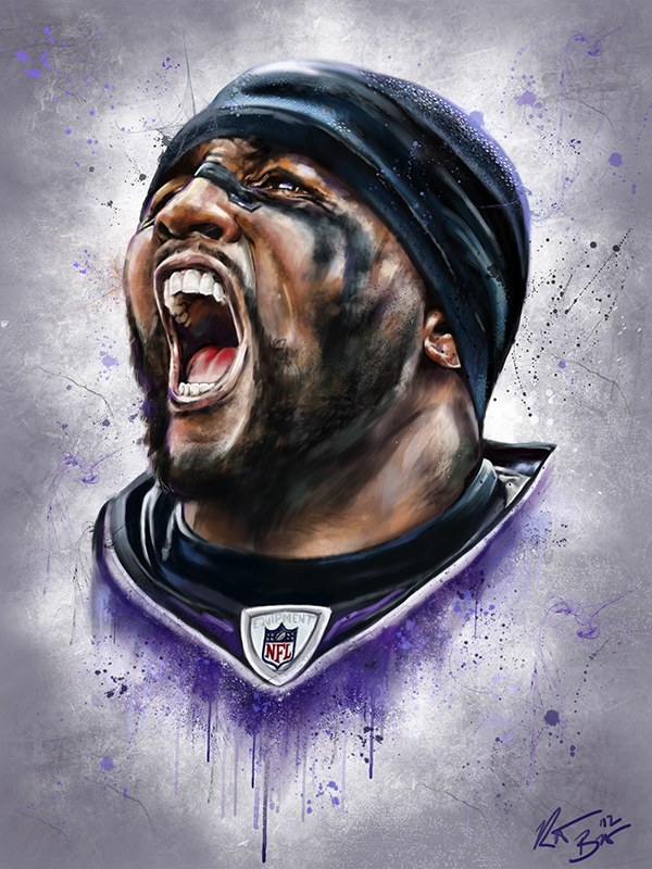 Ray Lewis Face Painting Digital Painting Ray Lewis