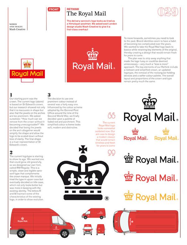 Royal Mail Rethink For Icon Magazine On Behance