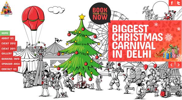 christmas carnival website on behance