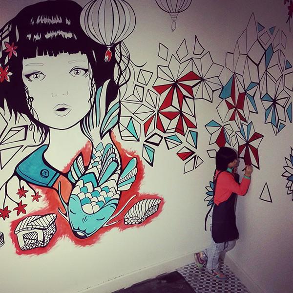Missushi mural for