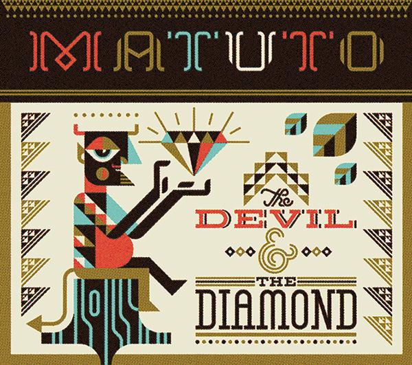 Sun folk art Brazil modern Rooster horse devil diamond