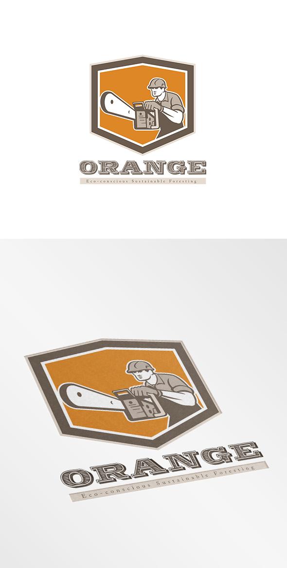 Orange Eco Sustainable Foresting Logo On Behance