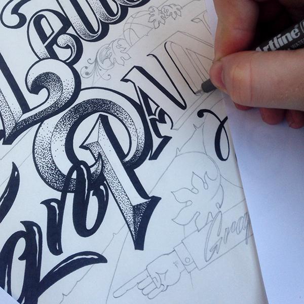 Hand-lettered Artwork by Carl Fredrik Angell