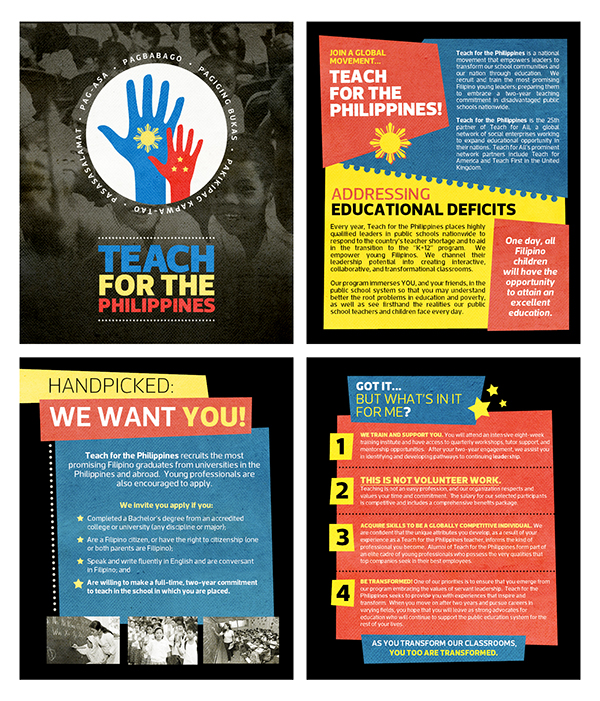 teach for the philippines recruitment brochures on sva portfolios