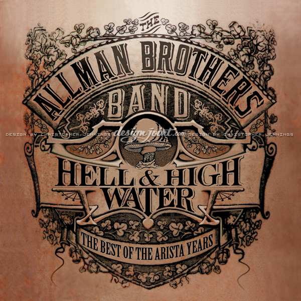 allman brothers  album covers vintage Retro lettering antique tattoo cd type design Rock Art sleeve design southern rock rock n roll Music Packaging