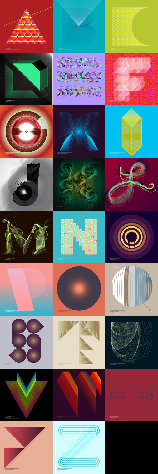computer generated art vector Illustrator Visual Diary geometry lines art artwork font angle explore type face Typeface fonts poster abstract Drew Europeo