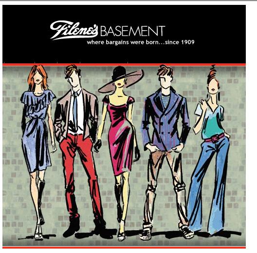advertising fashion illustration for filene 39 s basement on behance
