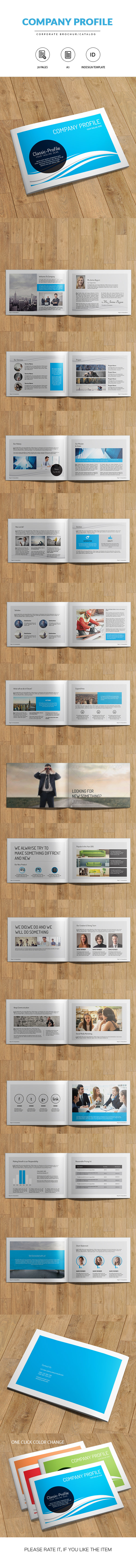 Company Profile A5 Indesign Brochure On Behance