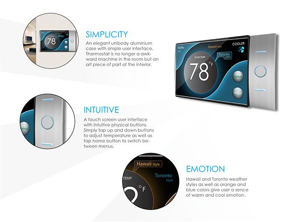 thermostat design on behance. Black Bedroom Furniture Sets. Home Design Ideas