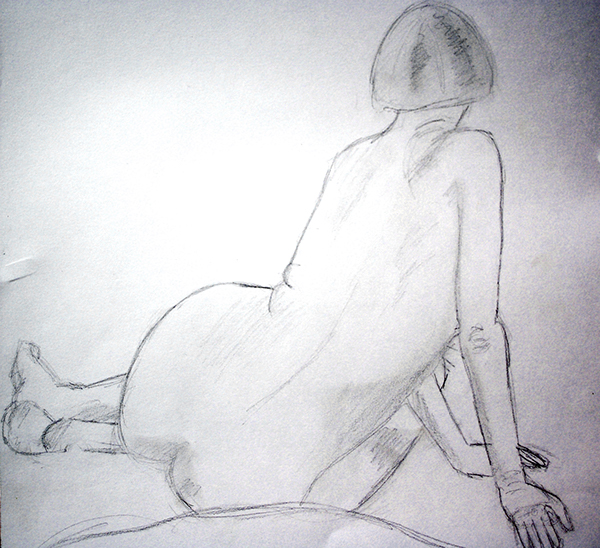 nude drawing observing drawing  realistic paint sculpture