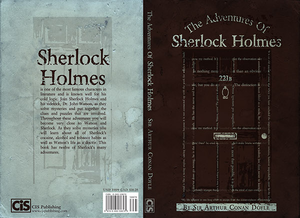 Book Covers Front And Back ~ The adventures of sherlock holmes cover on behance