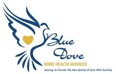 Custom Logo Design: Blue Dove Home Health Services On Behance