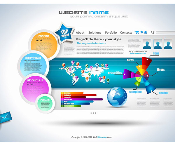 Vector artistic infographics Website Templates on Behance