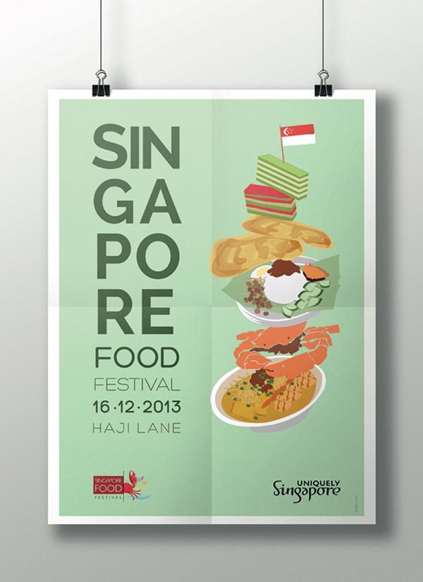 singapore food festival poster on behance. Black Bedroom Furniture Sets. Home Design Ideas