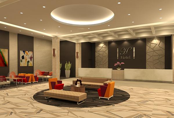 Hotel Lobby Lighting Design On Behance