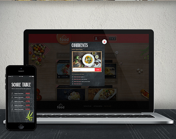 Food  kitchen Web facebook Theme free psd service red vegetable