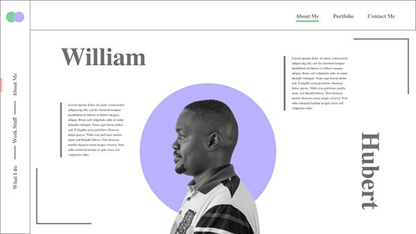 William Minimalistic Portfolio