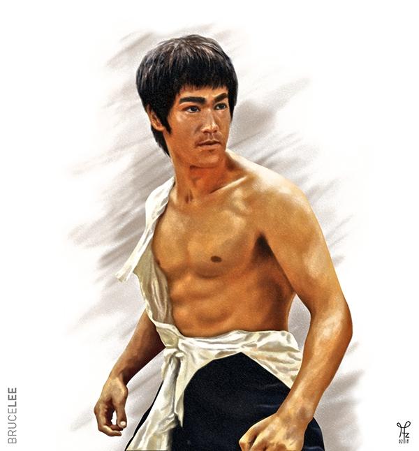 Digital Art Bruce Lee On Pantone Canvas Gallery