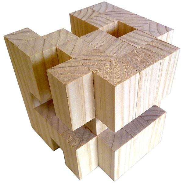 Wooden Cube Deconstruction on Student Show