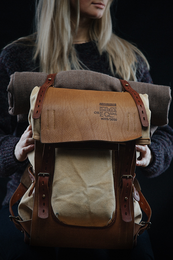 Leather And Canvas Backpack 078 On Behance