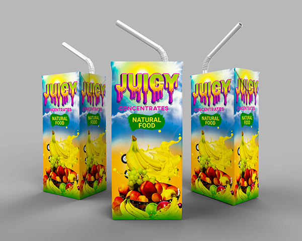 Juice Packaging Design |Creative juice Packaging Design