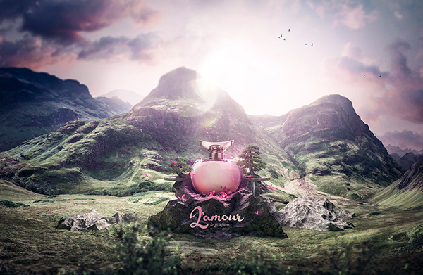 L Amour Perfume On Behance