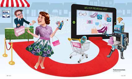 Retail future science fiction Client sales retailer digital world