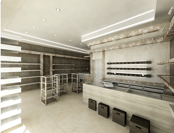 Shop interior design - Oman on Behance