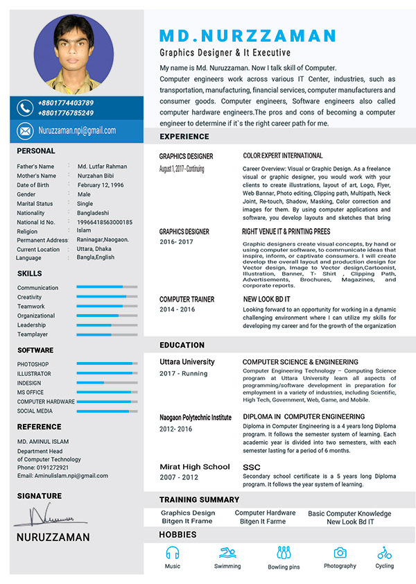 CV Resume Template PSD Adobe Photoshop CC on Pantone Canvas ...