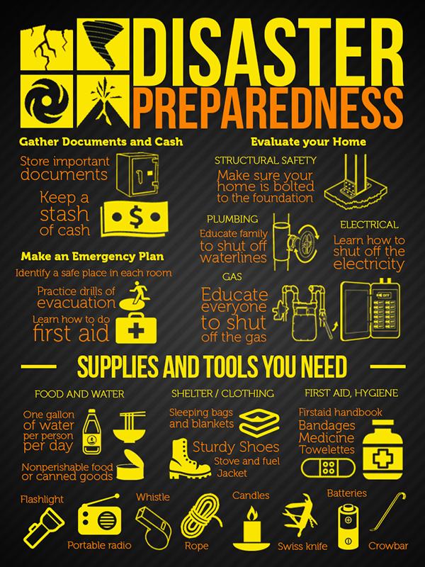 disaster preparedness infographic poster on behance