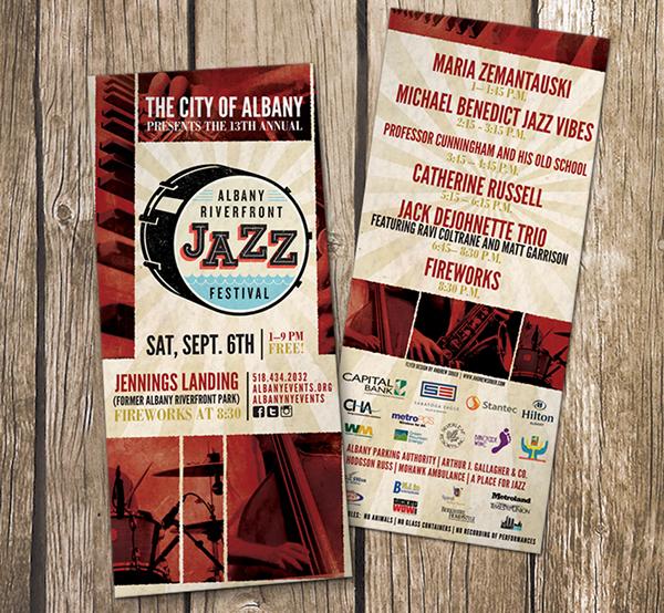 Poster Design jazz Music Festival Albany riverfront