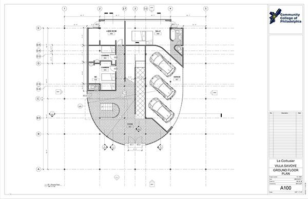 Villa Savoye-Revit Construction Documentation on Behance