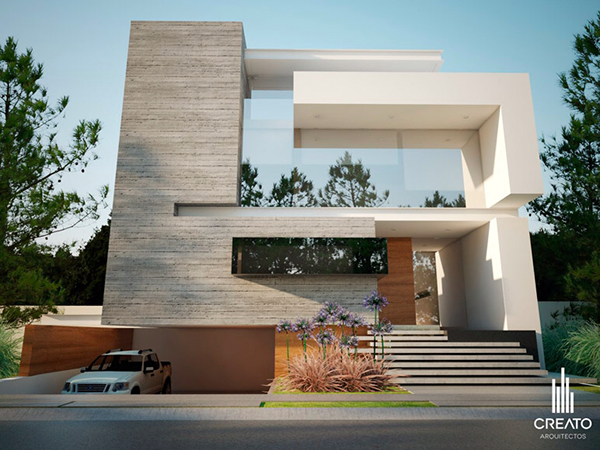 Olivos house on behance for Casas minimalistas modernas con cochera subterranea