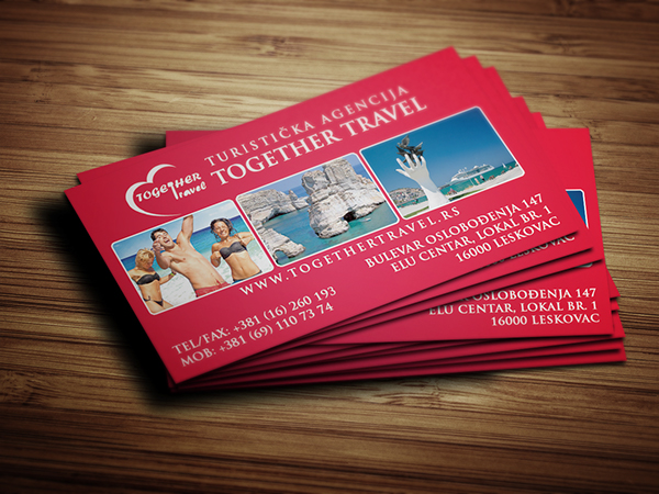 Business card design for travel agency on behance for Travel agency business cards