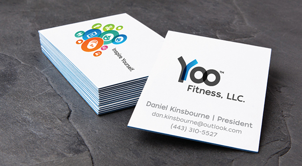 Business card design for fitness tech company on behance selected business card design and final product solutioingenieria Choice Image