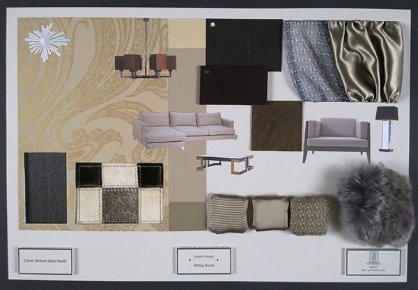 Sample board iii 2010 2011 on behance for Room interior design sample