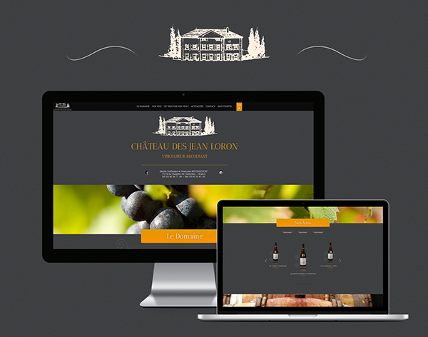Webdesign integration e-commerce wine