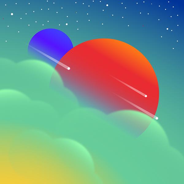 Planetas con nubes XD