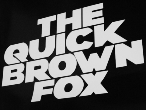 Typeface font OC BOLD OC LIGHT ORIGINAL CRED. Logotype poster THE QUICK BROWN FOX