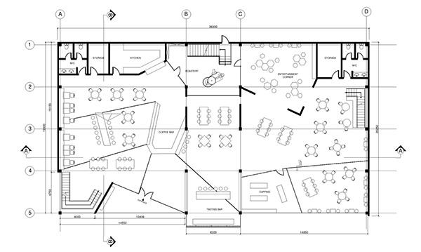 Coffee Floor Plan: Handsome Coffee Roasters On Behance